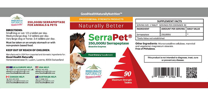 Serrapet – serrapeptase for pets