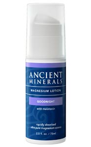 Ancient Minerals Magnesium Lotion Goodnight – 75ml, inc Melatonin and MSM