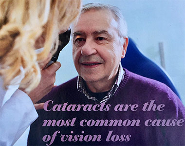 Cataracts are the most common cause of vision loss