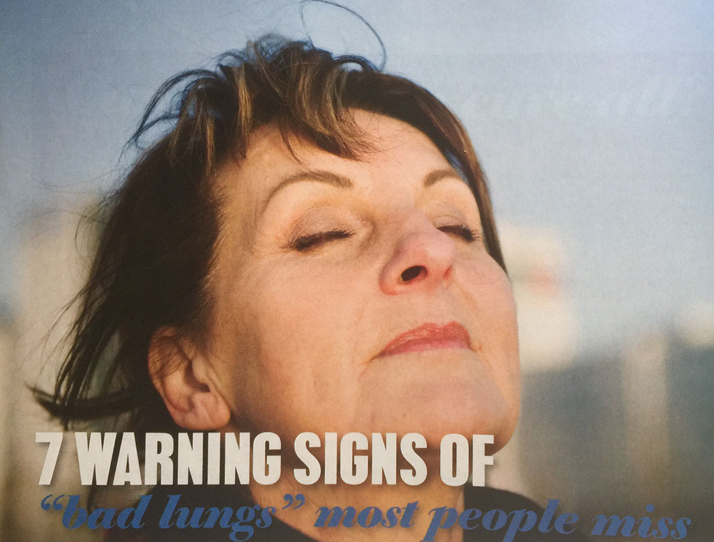 Warning signs of bad lungs